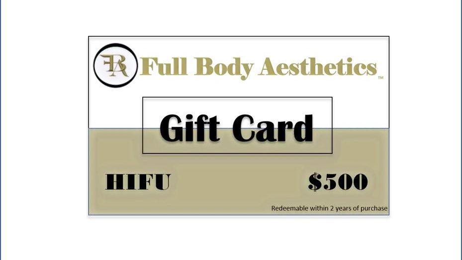Full Body Aesthetics Gift Card - 3D & 4D HIFU