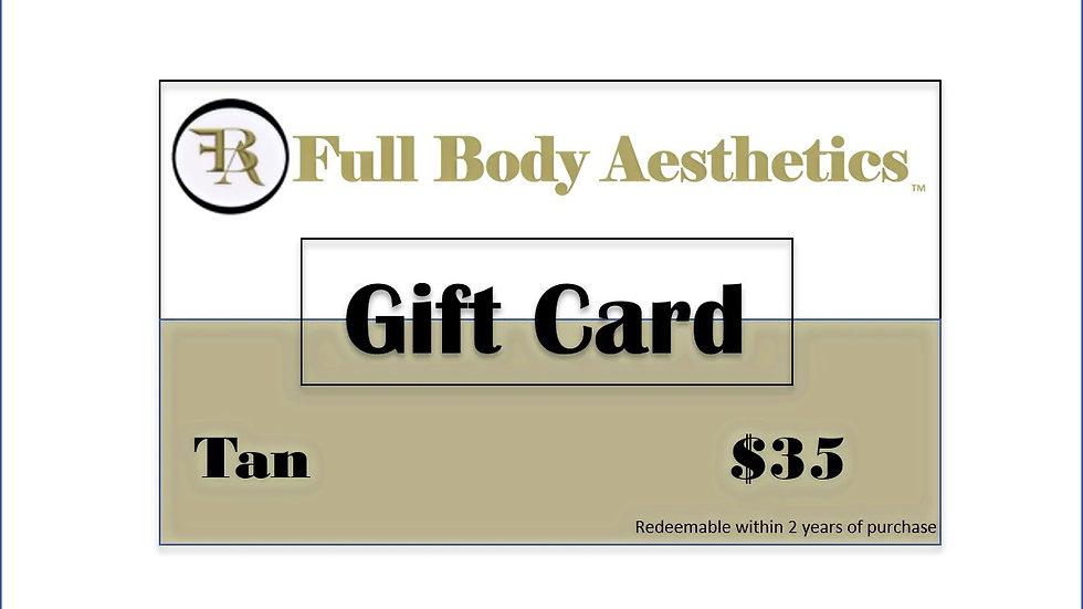 Full Body Aesthetics Tan