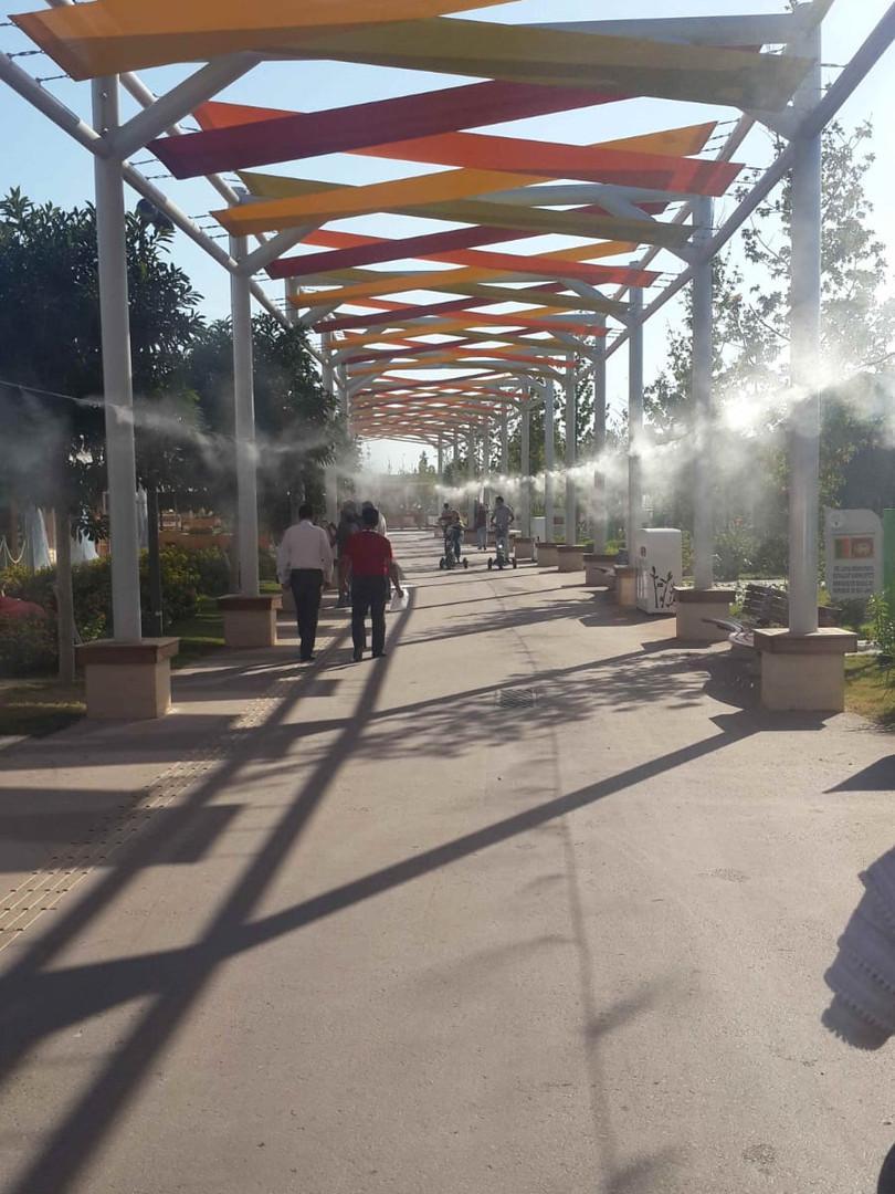 Expo Alanları Açık Alan Serinletme Siste