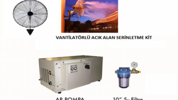 4 Vantilatörlü Açık Alan Serinletme Sistemi (Orta Basınç)
