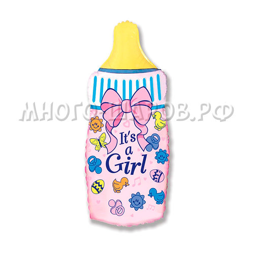 """Фигура """"Бутылочка для девочки"""" (79см)"""