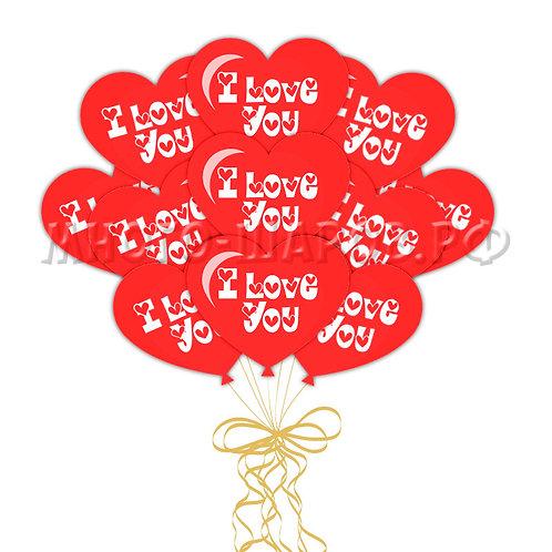 "Шары-сердца ""I Love You"" (латекс)"