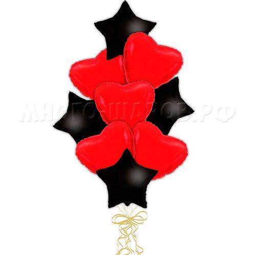 """Связка """"Черные звезды и красные сердца"""""""