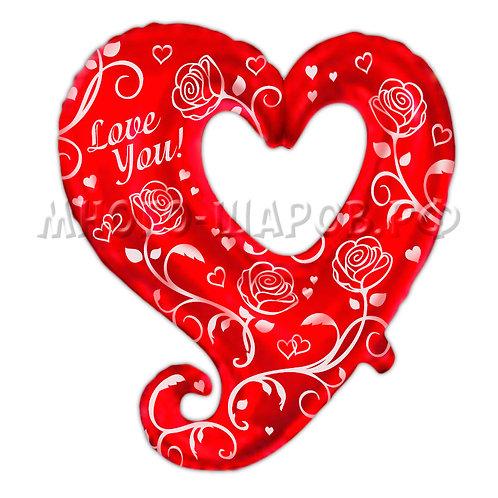 "Фигура ""Сердце с розами» (81см)"