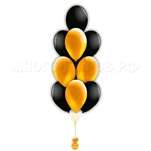 Фонтаниз 9 черно-золотых шаров