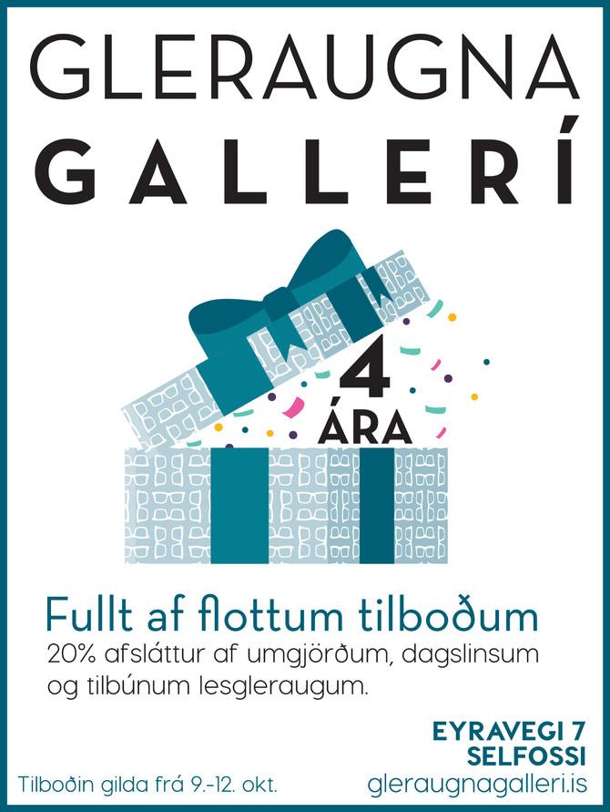 Gleraugna Gallerí 4 ára.