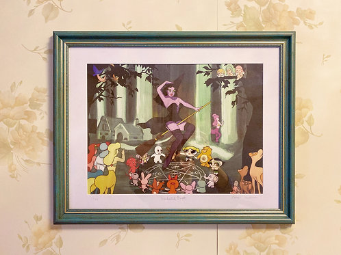 Enchanted Forest digital print with frame