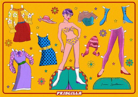 Priscilla paper doll sheet