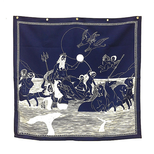 WALL ART HANGING CLOTH - POSEIDON