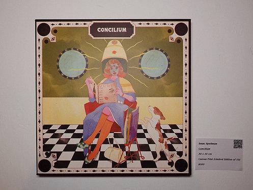 Concilium Canvas Print