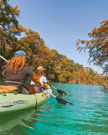 Kayak down the Blanco River