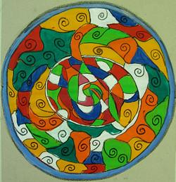 Meditatives Malen, Mandala, Acryl
