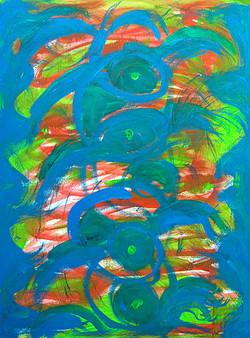 Intuitives Malen, Acryl