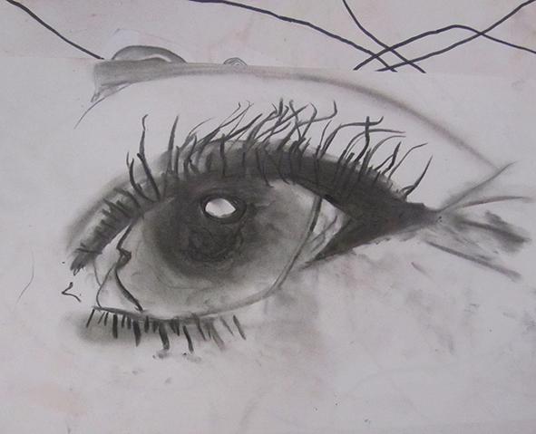 Auge, realistisch, Bleistift