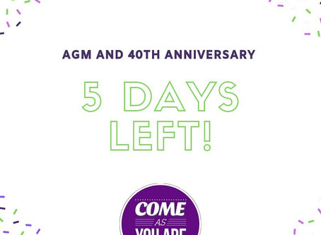 AGM and 40th Anniversary