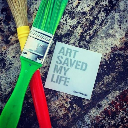'Art Saved My Life' Stickers