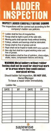 Ladder Compliance Checklist Sticker