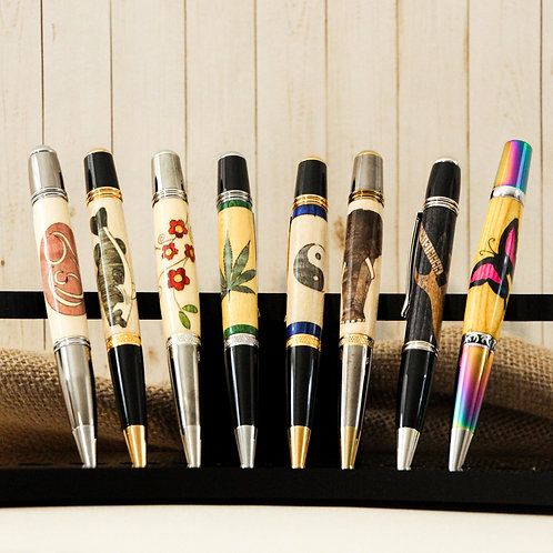 Wood Inlay Design Pens