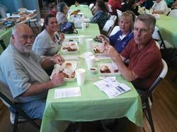 Community Members at Chicken Box Dinner