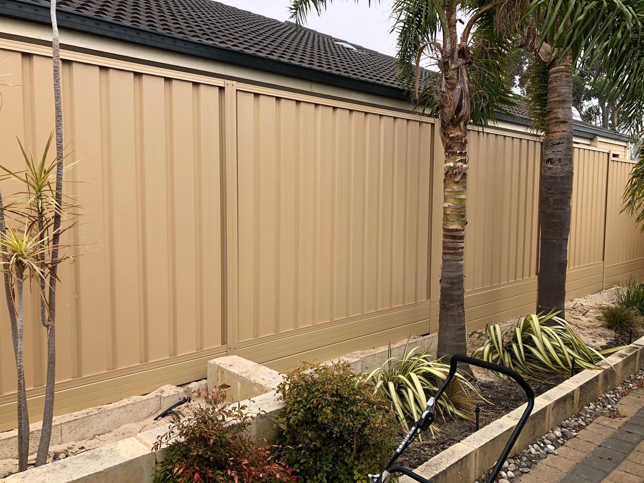 Colorbond Fence Heathridge, Perth