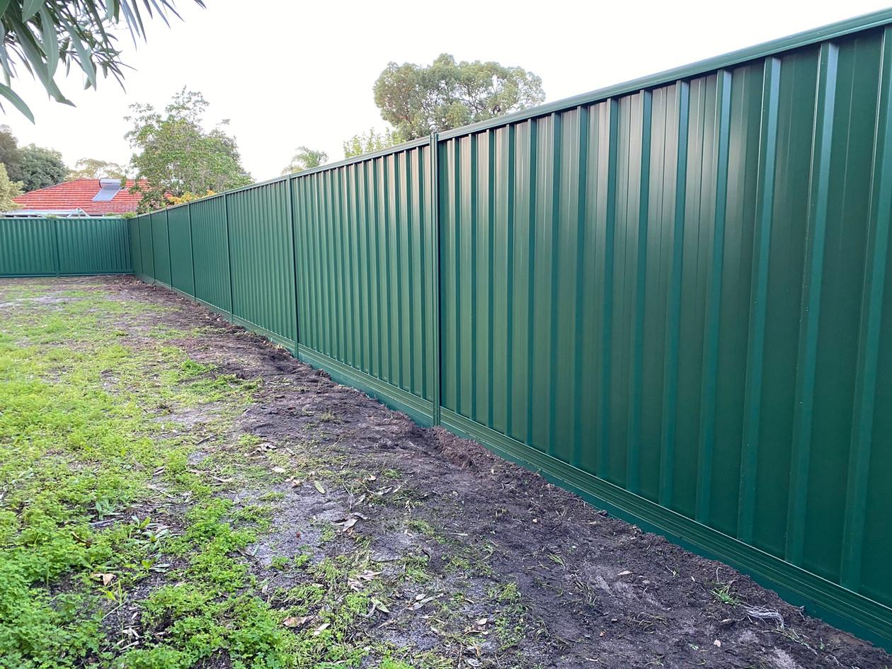 Cottage Green Colorbond Fence