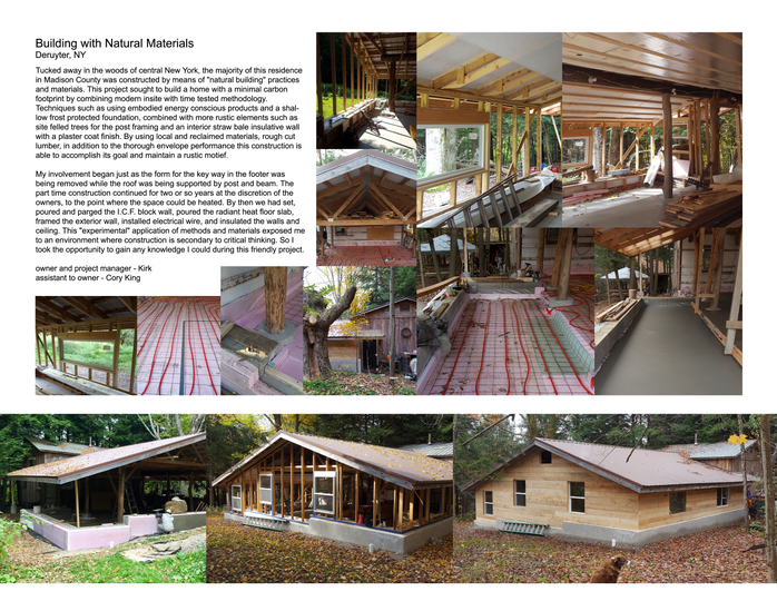 Building with Natural Materials Deruyter, NY