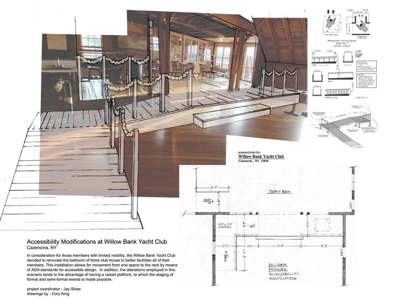 Accessibility Modifications at Willow Bank Yacht Club Cazenovia, NY