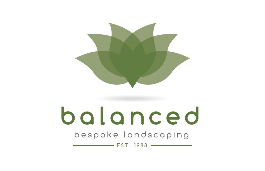 Balanced bespoke landscaping logo