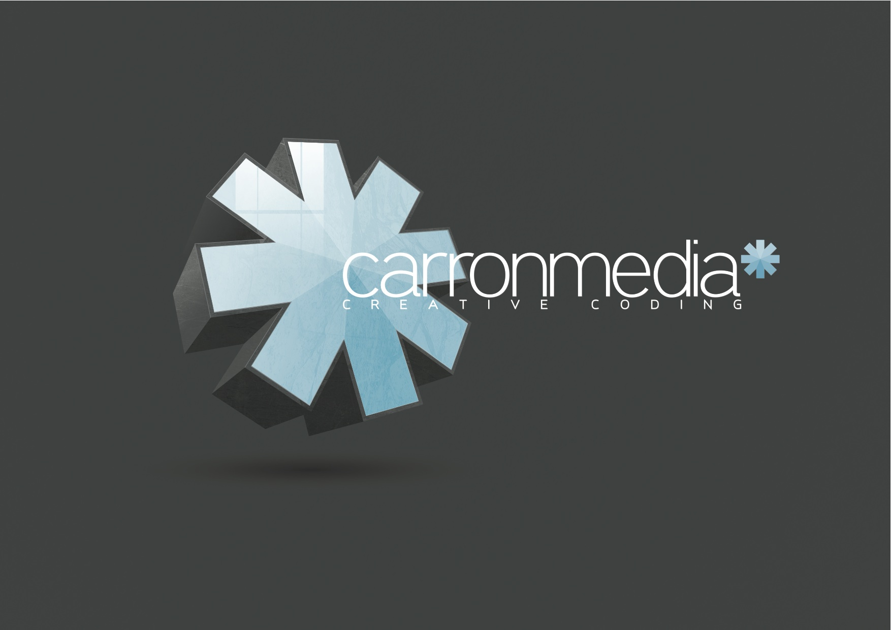 Carronmedia logo and branding design.