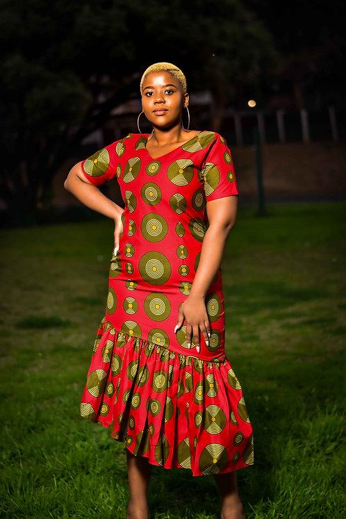 Disk African Dress