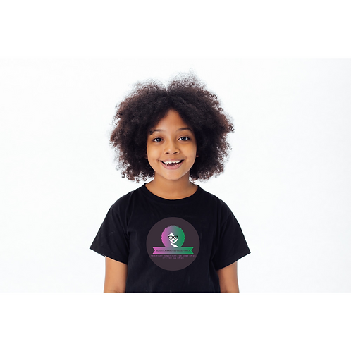 Slightly Annoyed Mixed Chick Kids T's
