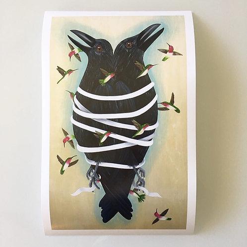 Crow Speak Print