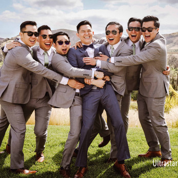 The groom and his Groomesmen!
