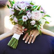 Wedding ring + Bridal Bouquet