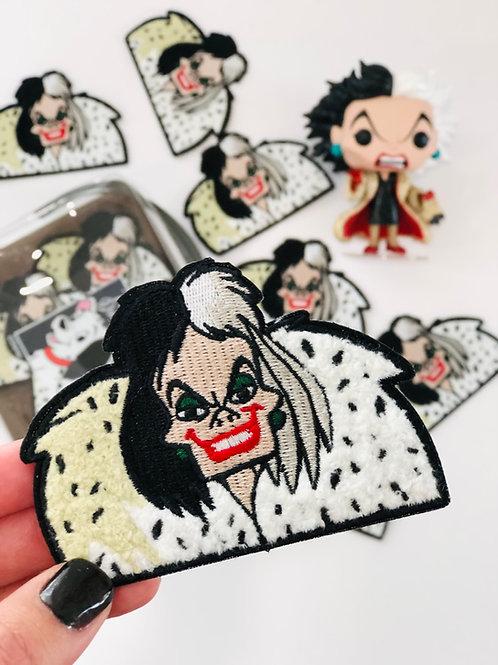 Cruella Chenille Patch