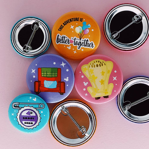 Up Chairs Button Set