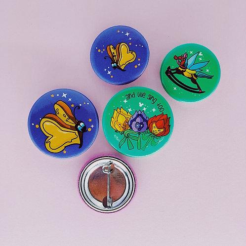 ( 4 ) Garden Button Set