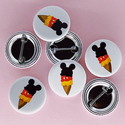 Mickey Cone Button