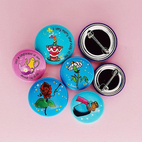 ( 5 ) Tea Party Button Set