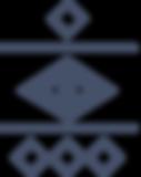 Marine triangles lignes et des cercles