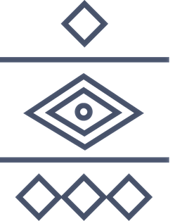 Navy triangles lines and circles
