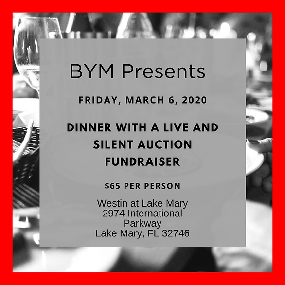 Dinner with a Live and Silent Auction Fu