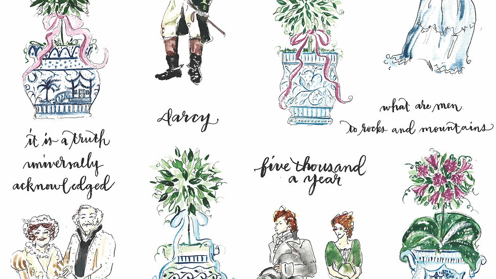 Pride and prejudice and Topiary large card