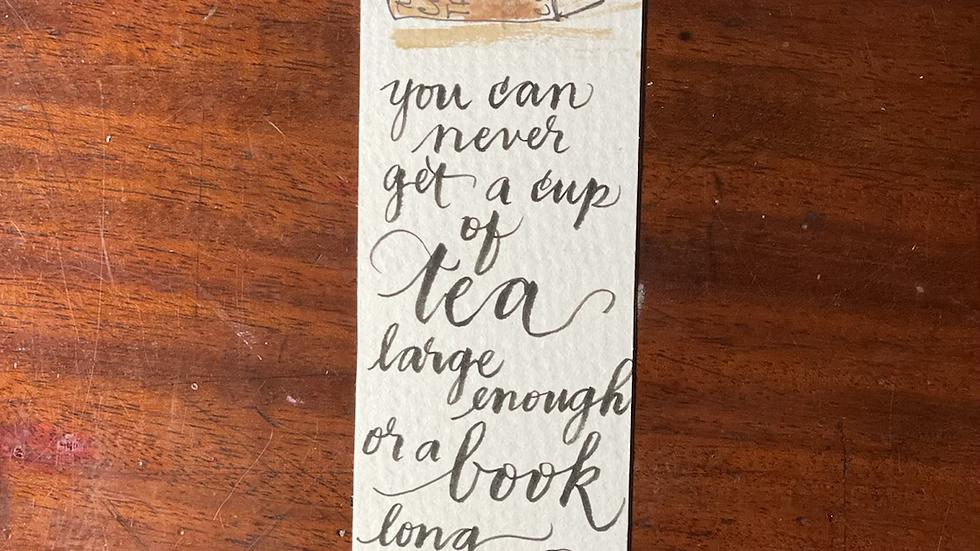 Tea and Bookmark No. 4