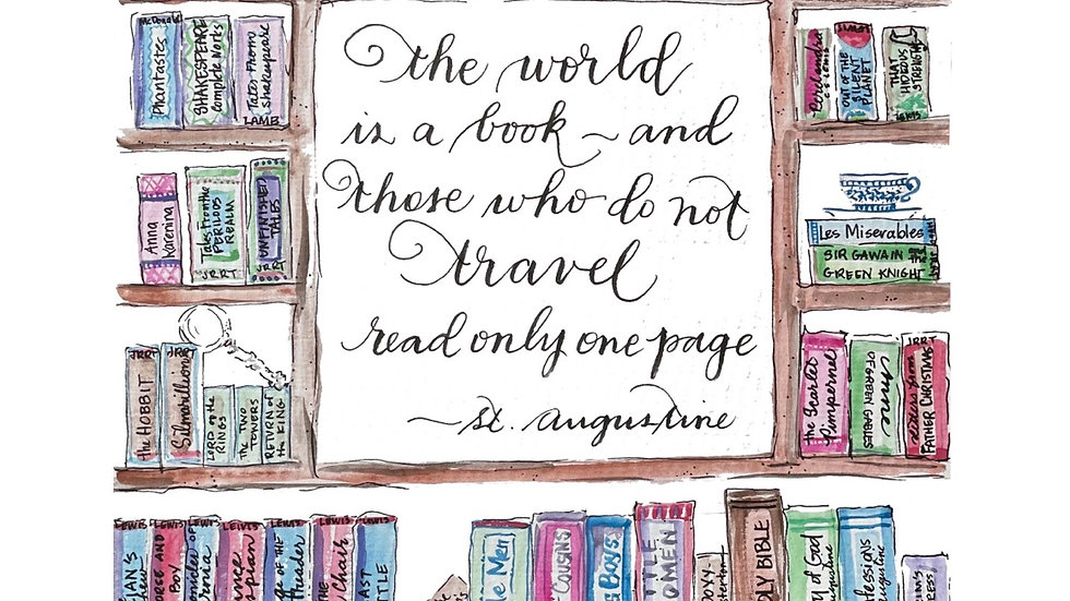 The World Is A Book print