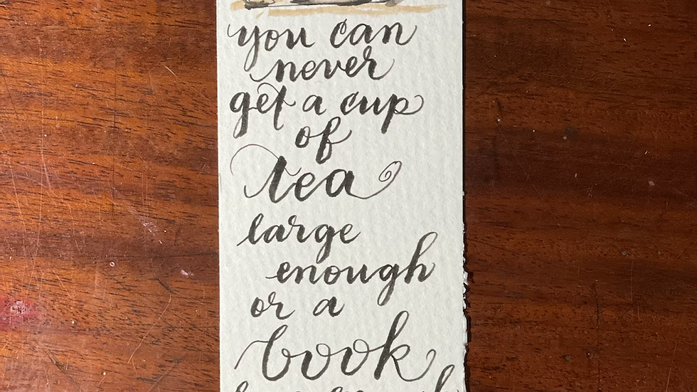 Tea and Bookmark number 2.
