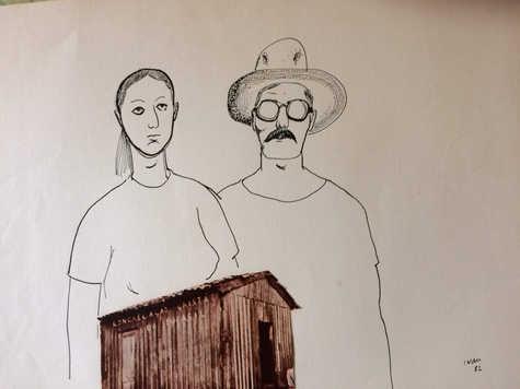 Zoca e Jocelyn na cabana