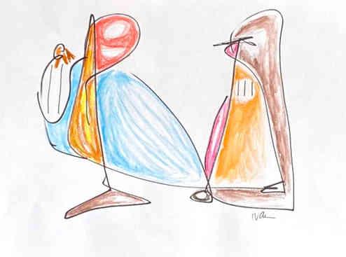 Tocadora de harpa tenta encantar o ignorantaço