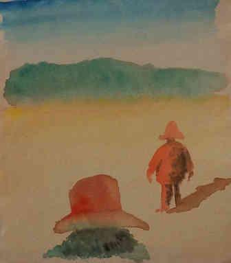 José e Miranda no deserto