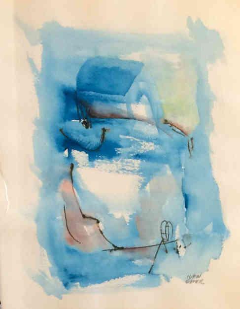 Azul alegre